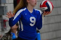 CIAC Girls Volleyball; Wolcott vs. Lewis Mills - Photo # (32)