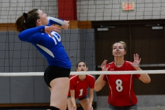 CIAC Girls Volleyball; Wolcott vs. Lewis Mills - Photo # (38)