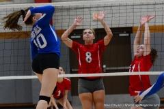 CIAC Girls Volleyball; Wolcott vs. Lewis Mills - Photo # (39)