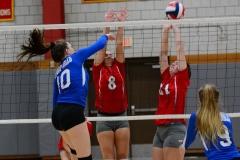 CIAC Girls Volleyball; Wolcott vs. Lewis Mills - Photo # (40)