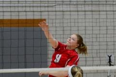 CIAC Girls Volleyball; Wolcott vs. Lewis Mills - Photo # (42)