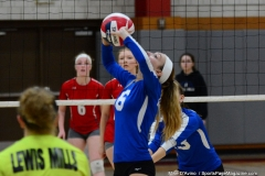 CIAC Girls Volleyball; Wolcott vs. Lewis Mills - Photo # (43)