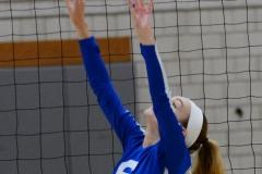 CIAC Girls Volleyball; Wolcott vs. Lewis Mills - Photo # (45)