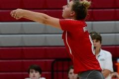CIAC Girls Volleyball; Wolcott vs. Lewis Mills - Photo # (52)