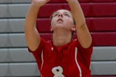 CIAC Girls Volleyball; Wolcott vs. Lewis Mills - Photo # (59)