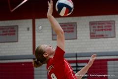 CIAC Girls Volleyball; Wolcott vs. Lewis Mills - Photo # (60)