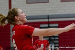 CIAC Girls Volleyball; Wolcott vs. Lewis Mills - Photo # (61)