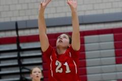 CIAC Girls Volleyball; Wolcott vs. Lewis Mills - Photo # (63)