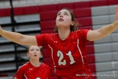 CIAC Girls Volleyball; Wolcott vs. Lewis Mills - Photo # (64)
