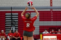 CIAC Girls Volleyball; Wolcott vs. Lewis Mills - Photo # (71)
