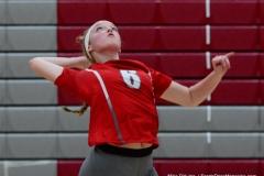CIAC Girls Volleyball; Wolcott vs. Lewis Mills - Photo # (72)