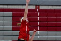 CIAC Girls Volleyball; Wolcott vs. Lewis Mills - Photo # (73)