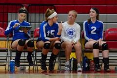 CIAC Girls Volleyball; Wolcott vs. Lewis Mills - Photo # (81)