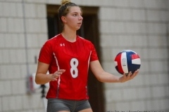 CIAC Girls Volleyball; Wolcott vs. Lewis Mills - Photo # (89)