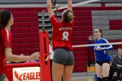 CIAC Girls Volleyball; Wolcott vs. Lewis Mills - Photo # (91)