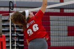 CIAC Girls Volleyball; Wolcott vs. Lewis Mills - Photo # (92)