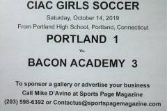 Gallery CIAC GSOC: Portland 1 vs. Bacon Academy 3