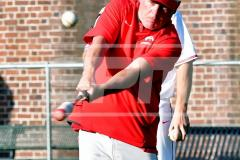 CIAC T. BASE, SF's; #1 Wolcott 3 vs. #5 Woodland 2 - Photo # 171