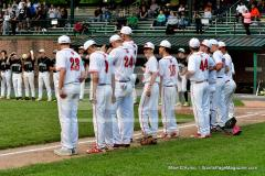 CIAC T. BASE, SF's; #1 Wolcott 3 vs. #5 Woodland 2 - Photo # 578