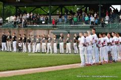 CIAC T. BASE, SF's; #1 Wolcott 3 vs. #5 Woodland 2 - Photo # 585