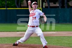 CIAC T. BASE, SF's; #1 Wolcott 3 vs. #5 Woodland 2 - Photo # 603
