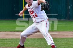 CIAC T. BASE, SF's; #1 Wolcott 3 vs. #5 Woodland 2 - Photo # 634