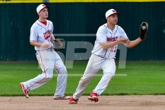 CIAC T. BASE, SF's; #1 Wolcott 3 vs. #5 Woodland 2 - Photo # 638