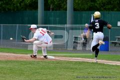 CIAC T. BASE, SF's; #1 Wolcott 3 vs. #5 Woodland 2 - Photo # 641