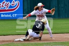 CIAC T. BASE, SF's; #1 Wolcott 3 vs. #5 Woodland 2 - Photo # 648