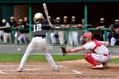 CIAC T. BASE, SF's; #1 Wolcott 3 vs. #5 Woodland 2 - Photo # 651
