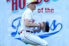 CIAC T. BASE, SF's; #1 Wolcott 3 vs. #5 Woodland 2 - Photo # 671