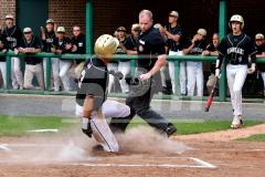 CIAC T. BASE, SF's; #1 Wolcott 3 vs. #5 Woodland 2 - Photo # 677
