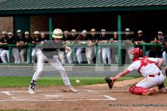 CIAC T. BASE, SF's; #1 Wolcott 3 vs. #5 Woodland 2 - Photo # 684