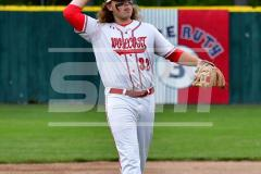 CIAC T. BASE, SF's; #1 Wolcott 3 vs. #5 Woodland 2 - Photo # 698