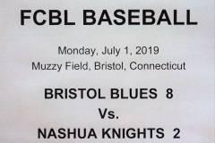 Gallery FCBL Bristol Blues 8 vs. Nashua Silver Knights 2