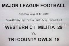 Gallery MLF: Western CT Militia 29 vs. Tri-County Owls 18