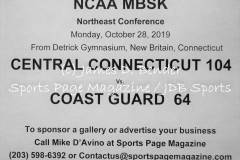Gallery NCAA MBSK: Central Connecticut 104 vs. Coast Guard 64