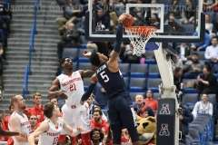 NCAA Men's Basketball AAC Tournament QF's - #3 Houston 65 vs. #6 UConn 74 (46)