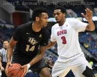 NCAA Men's Basketball AAC Tournament SF's - #1 SMU 70 vs. #4 UCF 59 (54)