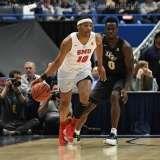 NCAA Men's Basketball AAC Tournament SF's - #1 SMU 70 vs. #4 UCF 59 (63)