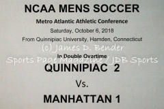 Gallery NCAA Mens Soccer: Quinnipiac 2 vs. Manhattan 1