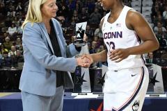 NCAA Women's Basketball AAC Tournament Quarterfinals - #1 UConn 92 vs. 8 ECU 65 (14)