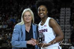 NCAA Women's Basketball AAC Tournament Quarterfinals - #1 UConn 92 vs. 8 ECU 65 (15)
