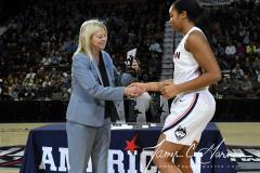 NCAA Women's Basketball AAC Tournament Quarterfinals - #1 UConn 92 vs. 8 ECU 65 (16)