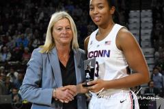 NCAA Women's Basketball AAC Tournament Quarterfinals - #1 UConn 92 vs. 8 ECU 65 (17)