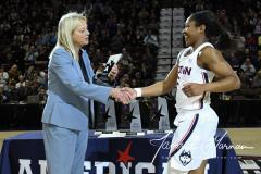 NCAA Women's Basketball AAC Tournament Quarterfinals - #1 UConn 92 vs. 8 ECU 65 (18)
