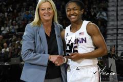 NCAA Women's Basketball AAC Tournament Quarterfinals - #1 UConn 92 vs. 8 ECU 65 (19)