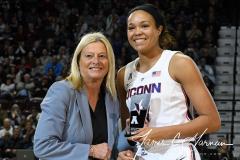 NCAA Women's Basketball AAC Tournament Quarterfinals - #1 UConn 92 vs. 8 ECU 65 (23)