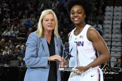 NCAA Women's Basketball AAC Tournament Quarterfinals - #1 UConn 92 vs. 8 ECU 65 (29)