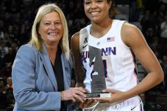NCAA Women's Basketball AAC Tournament Quarterfinals - #1 UConn 92 vs. 8 ECU 65 (31)